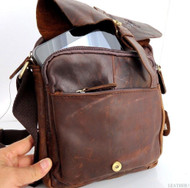 Genuine full Vintage Leather Shoulder Bag Messenger man tablet cross russia