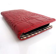genuine real natural leather Case for Galaxy S3 SIII s 3 book wallet crocodile red hand