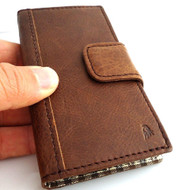 genuine vintage leather case for iphone 5 s stand book wallet credit card 5s TA