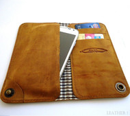 genuine leather Case For GALAXY S3 s4 CASE book wallet handmade brown id NEW