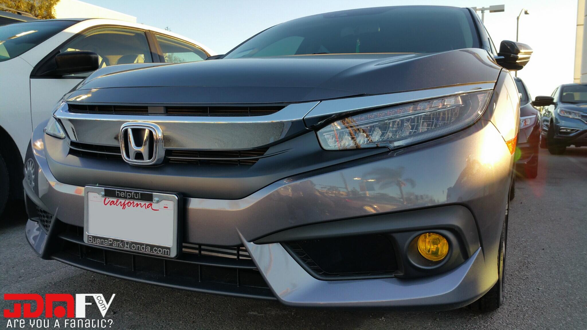 2016 Honda Civic Preuct Yellow Fog Light overlays Tint