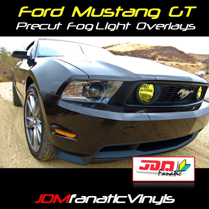 10 12 Ford Mustang Gt Svt Precut Yellow Fog Light Overlays