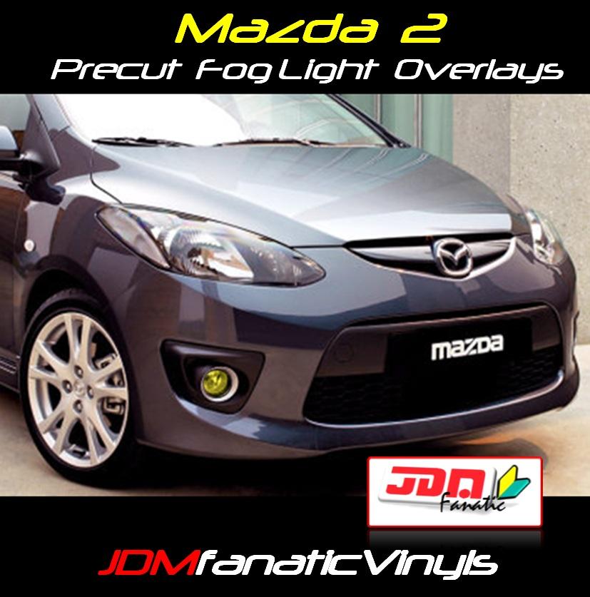 2011-2013 Mazda 2 Yellow Fog Light Overlays Tint