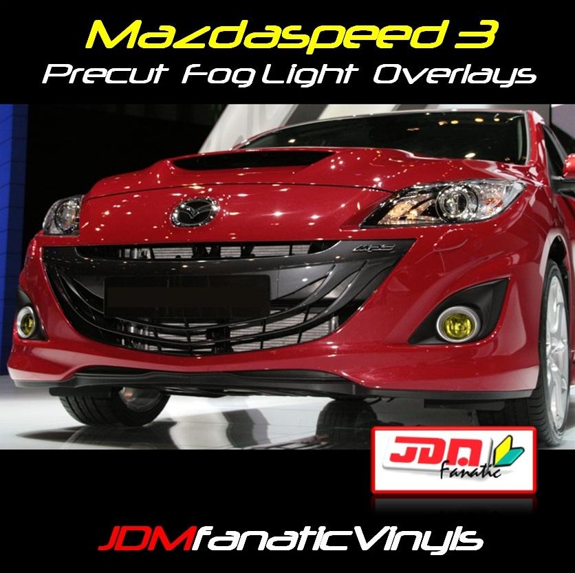 2010-2013 Mazdaspeed 3 Yellow Fog Light Overlays Tint