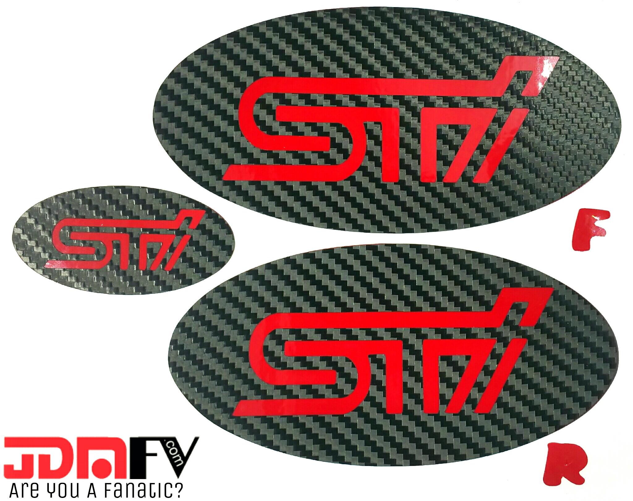 Sti Precut Emblem Overlays W Logo Front Rear 15 17 Sti