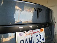 Tesla Trunk Trim Chrome Delete w/ Letters Cutout