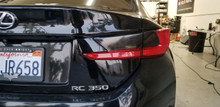 Smoked Tail light Overlays Tint (15-18 Lexus RC)