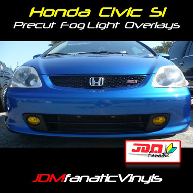 ... Honda Civic Si Precut Yellow Fog Light Overlays Tint Kit. Image 1