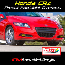11-12 Honda CRZ Precut Yellow Fog Light Overlays Tint