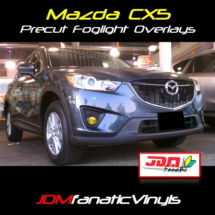 2013 Mazda CX5 Yellow Fog Light Overlays Tint