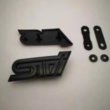 STI Grille Emblem Gloss Gloss Black/black
