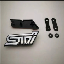 STI Grille Emblem Chrome/black