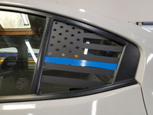 Thin Blue Line American Flag Quarter Window Decal (2015+ WRX/STI)