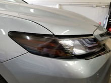 Dark Smoke Amber Delete Head light Overlays (2018+ Camry)