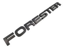 FORESTER Matte Black Trunk Tail Gate Emblem Lettering