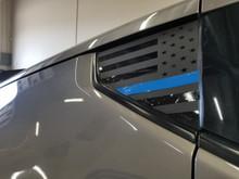 Thin Blue Line Flag Quarter Window Decal (370z)