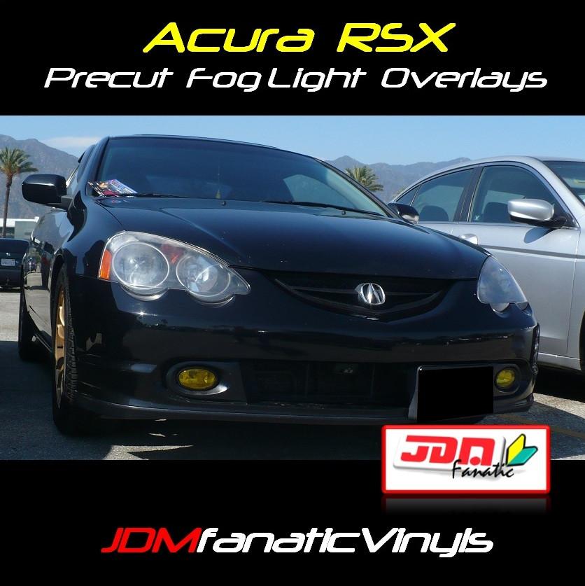 2002-2003 Acura TSX Type-S Precut Yellow Fog Light
