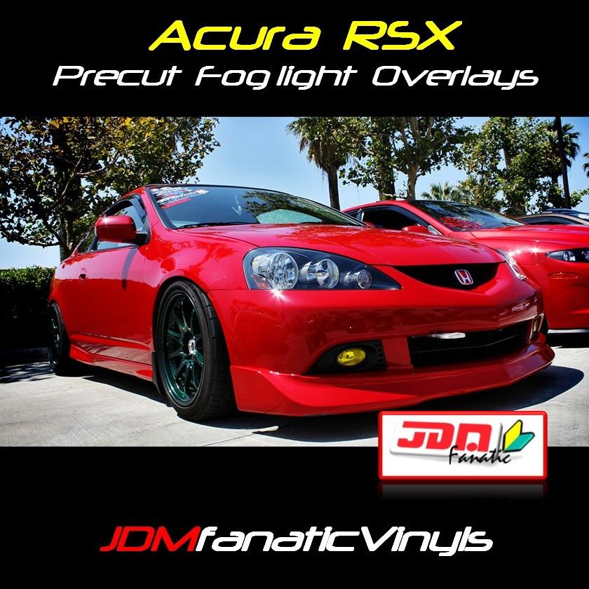 05-06 Acura RSX Type-S Precut Yellow Fog Light Overlays Tint