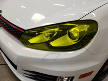 Yellow Head Light Overlays Tint (10-14 MK6)