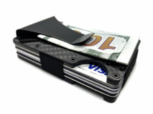 100% Real Carbon Fiber Wallet / Card Holder with Money Clip