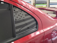 Distressed American Flag Quarter Window Decal (2008-2017 Lancer / EVOX)