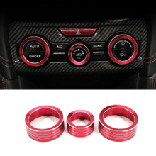 3x Climate Control Knob Covers  - Red, Blue, Silver