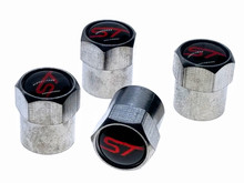 Ford ST Valve Stem Caps - Chrome