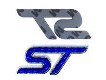 Blue ST Trunk Emblem Replacement