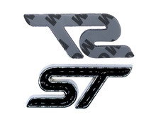 Black ST Trunk Emblem Replacement