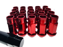 RED Steel Tuner Lug Nuts - Open Ended 55mm