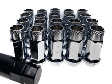 CHROME Steel Tuner Lug Nuts - Open Ended 55mm