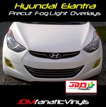 11-13 Hyundai Elantra SEDAN Precut Yellow Fog Light Overlays Tint