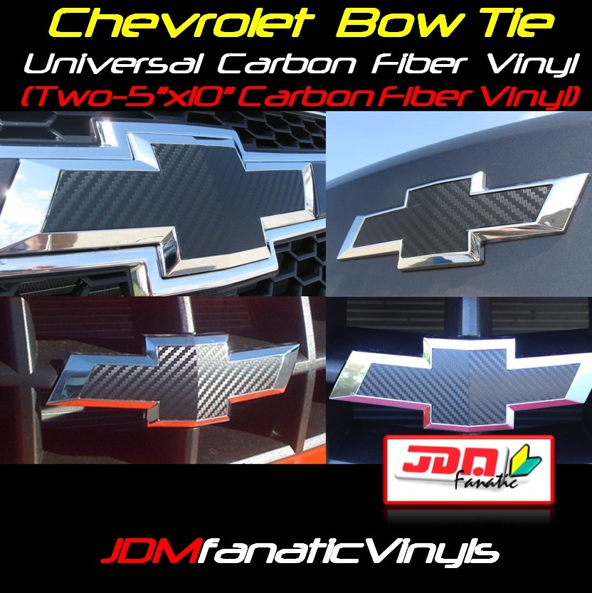 Chevrolet Bow Tie Emblem Front Rear Overlays