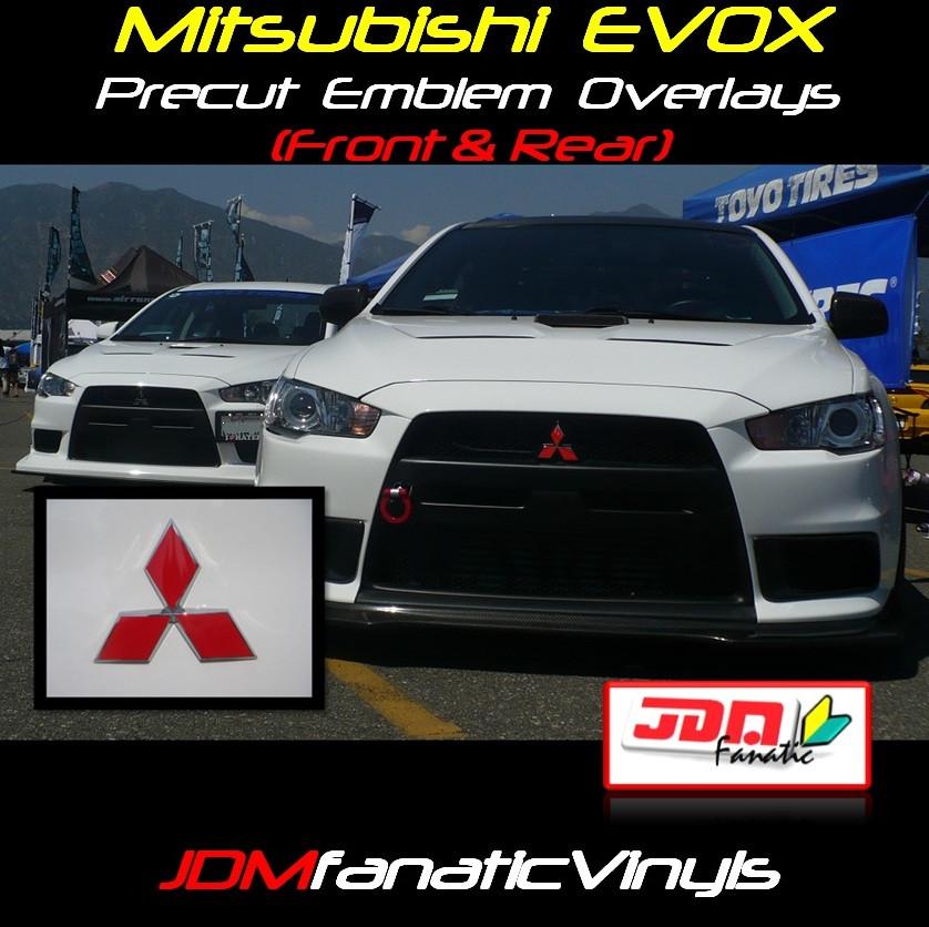 2013 Mitsubishi Lancer Exterior: 08-13 Mitsubishi Lancer EVOX Precut Emblem Front/Rear Overlays