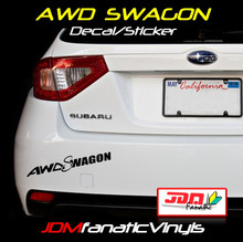AWD SWAGON Decal/Sticker