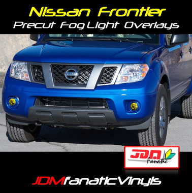 ... Nissan Frontier Precut Yellow Fog Light Overlays Tint. Image 1