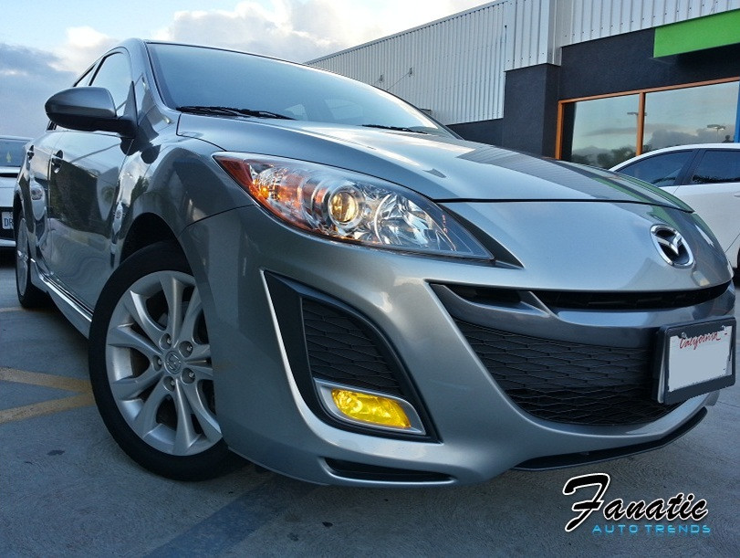 2010 2011 Mazda 3 Sport Yellow Fog Light Overlays Tint