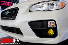 2015-2017 WRX STI Precut Yellow Fog Light Overlays Tint
