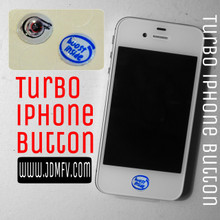 TURBO iPhone Home Button Decal Overlay (2 pack)