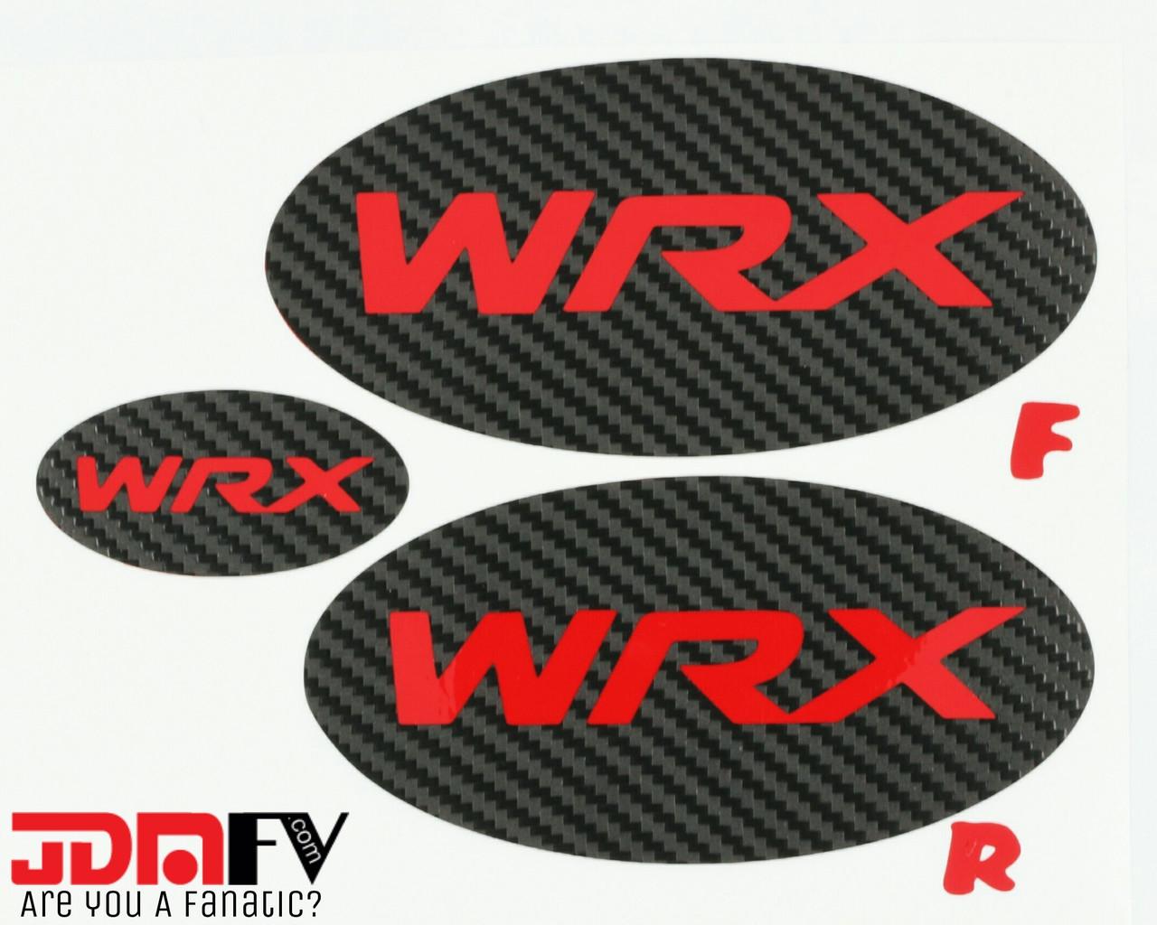 Wrx Logo Precut Emblem Overlays Front Rear 15 17 Wrx