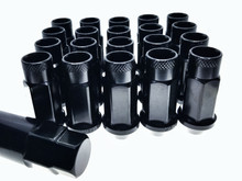 Black Steel Tuner Lug Nuts - Open Ended 55mm