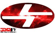 RED GALAXY - Precut Emblem Overlays Front/Rear (10-12 Legacy)
