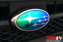 BRZ neo chrome emblem overlays