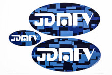 Blue Camo with Matte White Logo