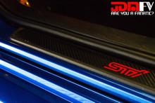 Black Carbon fiber with Gloss Red STI Logo
