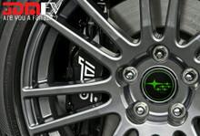 Black with Lime Green Subaru Stars