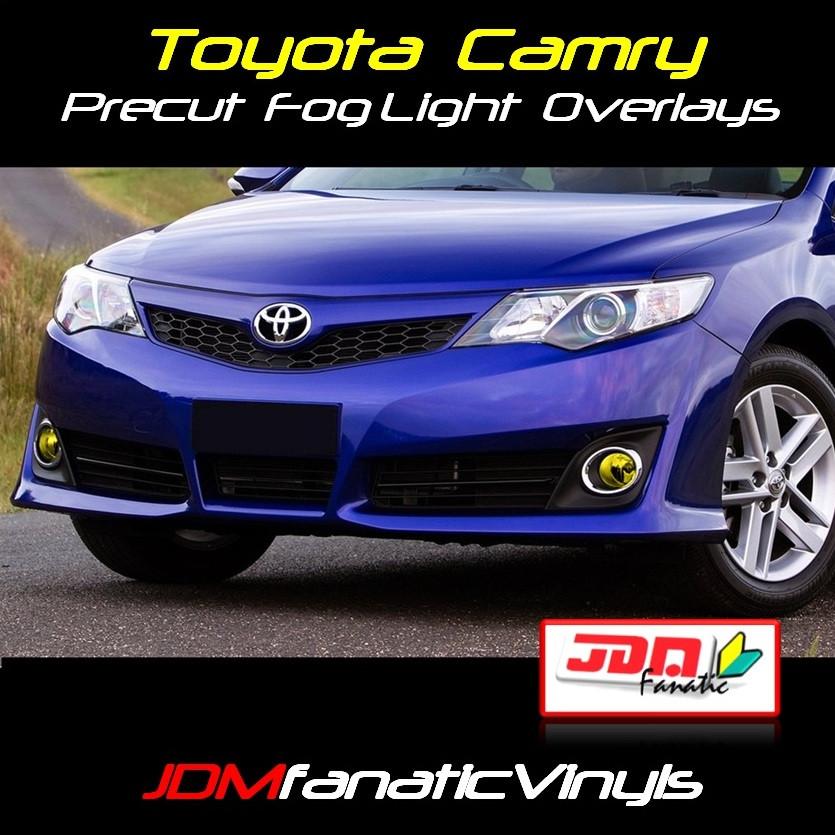 2012 Toyota Camry Precut Yellow Fog Light Overlays Tint