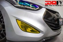 Precut Yellow Fog Light Overlays Tint (13-16 Elantra Coupe)