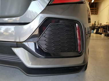 Rear Bumper Reflector Overlays 17 Civic Hb Type R