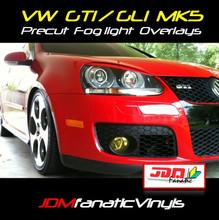 06-09 VW Jetta/Golf MKV GTI Precut Yellow Fog Light Overlays Tint